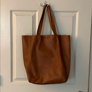 Banana Republic Leather Bag Cognac